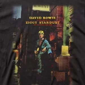 New David Bowie Ziggy Stardust Album Shirt